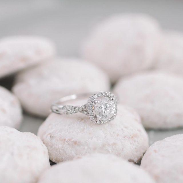 The perfect powdery backdrop traditional wedding cookies for an updatedhellip