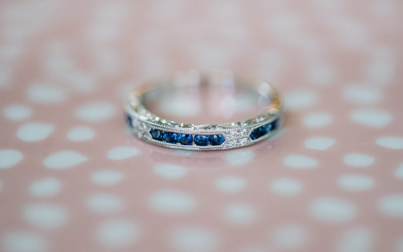 wedding band with colored gemstones blue sapphires