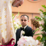 Bride and groom getting married at a traditional Armenian ceremony