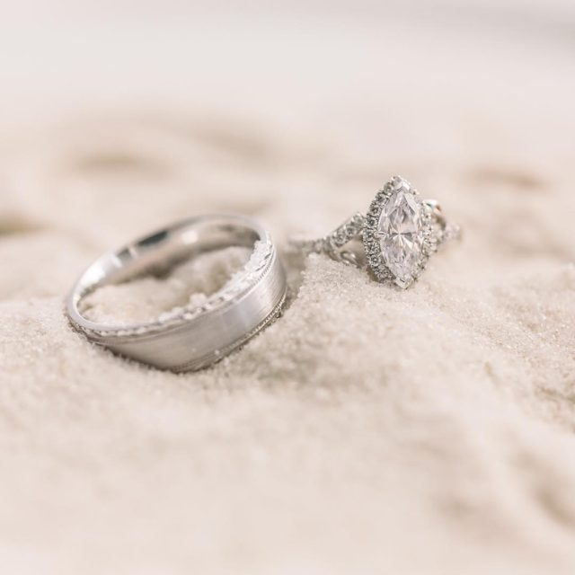 Honeymoon vibes  goals hisandhers summerlove weddingrings bridaljewelry engagementring mensringhellip