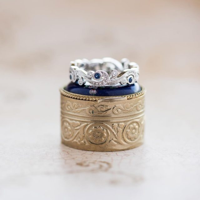 Rhapsody in blue This diamond and sapphire stunner is Designhellip