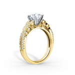 Yellow gold and diamond ring from Kirk Kara