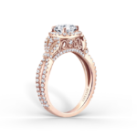 Rose gold and diamond ring from the Kirk Kara Pirouetta Collection