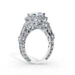 White gold and diamond Kirk Kara engagement ring
